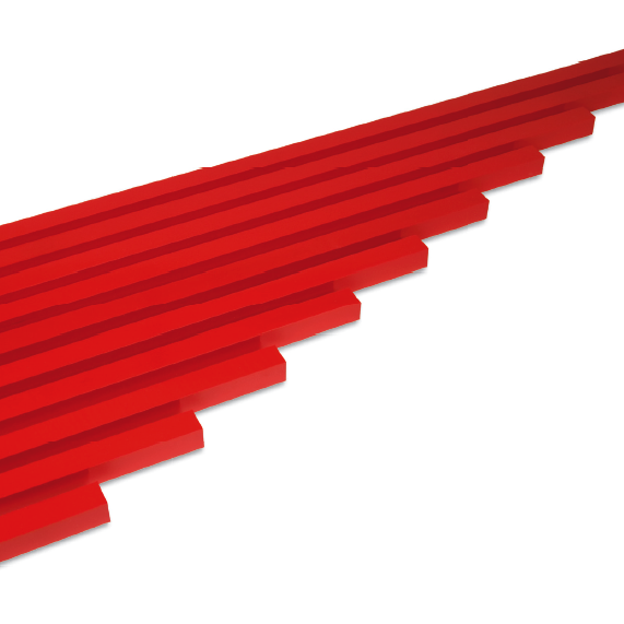 Montessori red rods